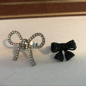 Set of Two Betsey Johnson Bow Rings